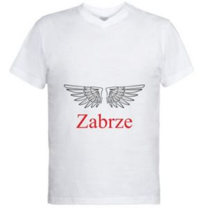 Men's V-neck t-shirt Zabrze wings