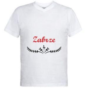 Męska koszulka V-neck Zabrze