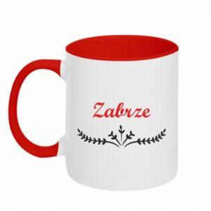Two-toned mug Zabrze