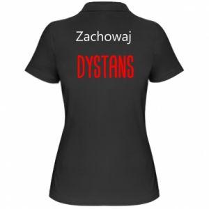Damska koszulka polo Zachowaj dystans