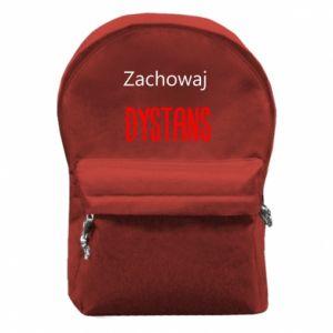 Backpack with front pocket Keep distance - PrintSalon