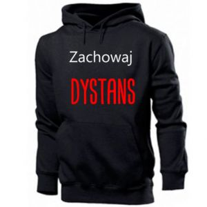 Men's hoodie Keep distance - PrintSalon