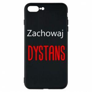Phone case for iPhone 8 Plus Keep distance - PrintSalon