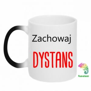 Chameleon mugs Keep distance - PrintSalon