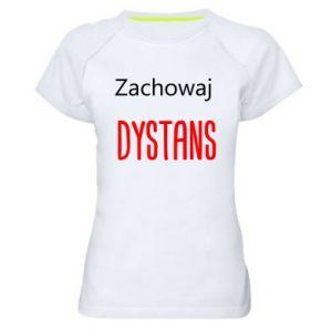Damska koszulka sportowa Zachowaj dystans