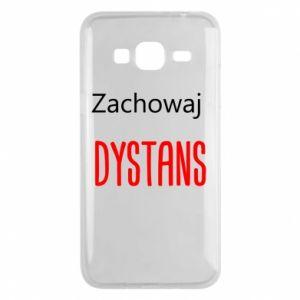 Phone case for Samsung J3 2016 Keep distance - PrintSalon