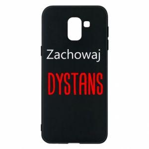 Phone case for Samsung J6 Keep distance - PrintSalon