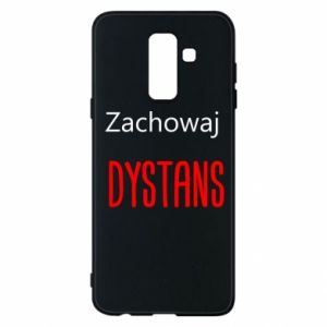 Phone case for Samsung A6+ 2018 Keep distance - PrintSalon