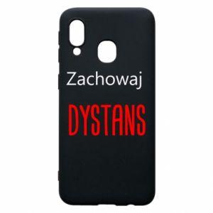 Phone case for Samsung A40 Keep distance - PrintSalon