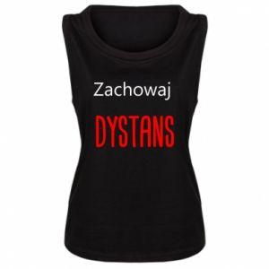 Women's t-shirt Keep distance - PrintSalon