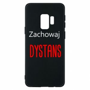Phone case for Samsung S9 Keep distance - PrintSalon