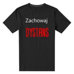 Men's premium t-shirt Keep distance - PrintSalon