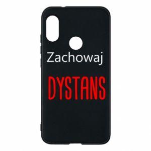 Phone case for Mi A2 Lite Keep distance - PrintSalon