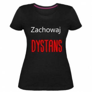 Women's premium t-shirt Keep distance - PrintSalon