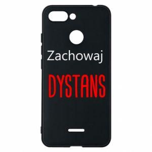 Phone case for Xiaomi Redmi 6 Keep distance - PrintSalon