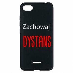 Phone case for Xiaomi Redmi 6A Keep distance - PrintSalon