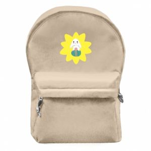 Backpack with front pocket Easter bunny