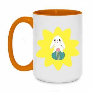 Two-toned mug 450ml Easter bunny