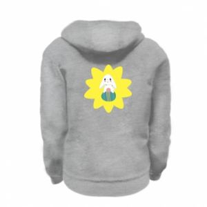 Kid's zipped hoodie % print% Easter bunny