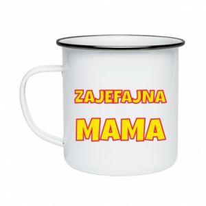 Kubek emaliowane Zajefajna mama