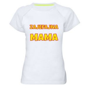 Women's sports t-shirt Cool mom