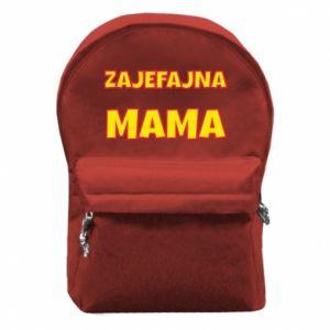 Plecak z przednią kieszenią Zajefajna mama