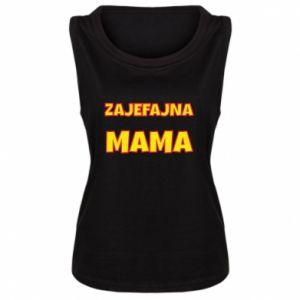 Damska koszulka bez rękawów Zajefajna mama