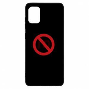 Etui na Samsung A31 Zakaz zawracania dupy