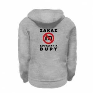 Kid's zipped hoodie % print% Ban on u-turns of the ass