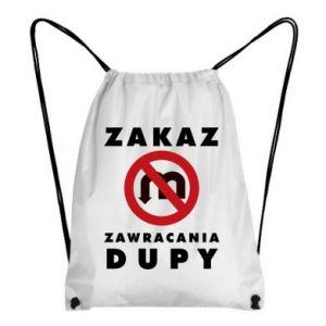 Plecak-worek Zakaz zawracania dupy