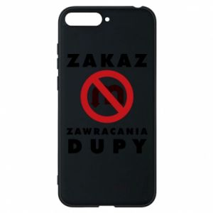 Phone case for Huawei Y6 2018 Ban on u-turns of the ass