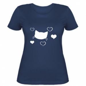 Damska koszulka Zakochany kot