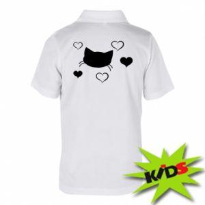 Dziecięca koszulka polo Zakochany kot