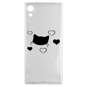 Sony Xperia XA1 Case Cat in love