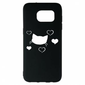 Samsung S7 EDGE Case Cat in love