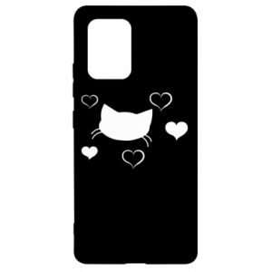 Samsung S10 Lite Case Cat in love