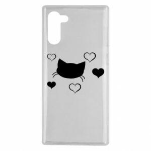 Samsung Note 10 Case Cat in love