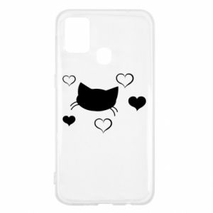 Samsung M31 Case Cat in love