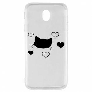 Samsung J7 2017 Case Cat in love