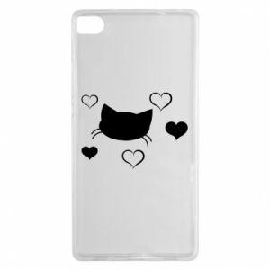 Huawei P8 Case Cat in love