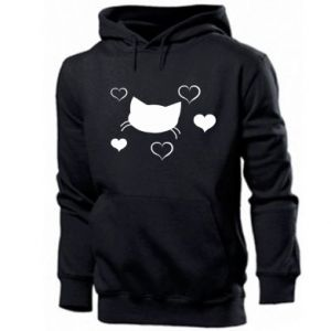 Men's hoodie Cat in love