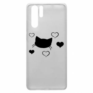 Huawei P30 Pro Case Cat in love