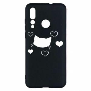 Huawei Nova 4 Case Cat in love