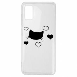 Samsung A41 Case Cat in love