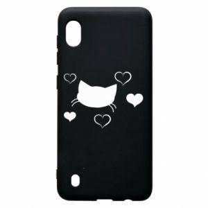 Samsung A10 Case Cat in love