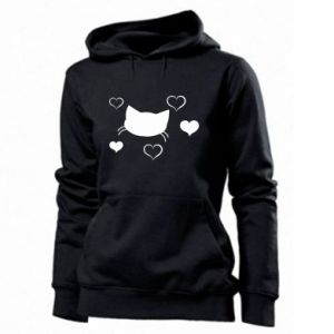 Women's hoodies Cat in love