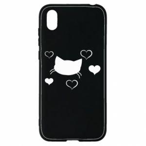 Huawei Y5 2019 Case Cat in love