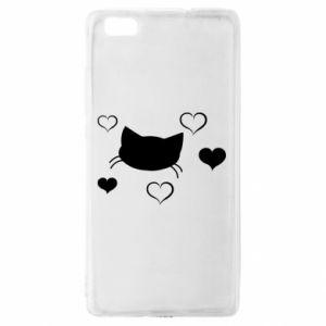 Huawei P8 Lite Case Cat in love