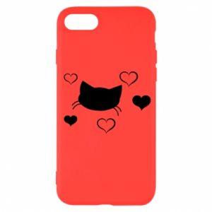 iPhone SE 2020 Case Cat in love