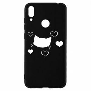 Huawei Y7 2019 Case Cat in love
